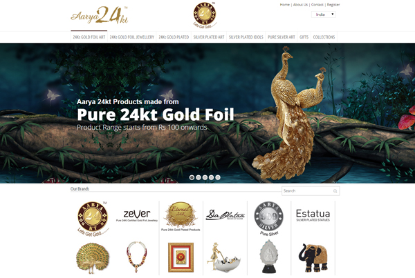 Jewellery website desining in India